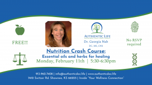 Nutrition Crash Course - Essential oils and herbs for healing