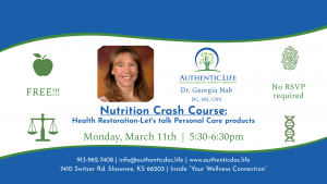 Nutrition Crash Course - Health Restoration - Let's talk Personal Care products