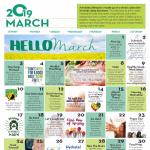 March Wellness Calendar