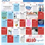 July Wellness Calendar